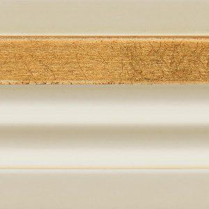 B2 Bianco antico + dettagli foglia oro