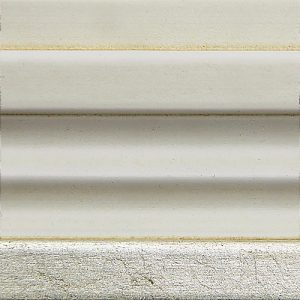 B4 Bianco antico + dettagli foglia argento