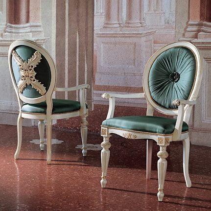 Stolička s opierkami BK4008/A biela