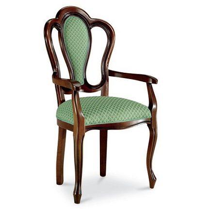 Čalúnená stolička s opierkami 110-C