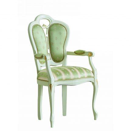 Čalúnená stolička s opierkami 111-C