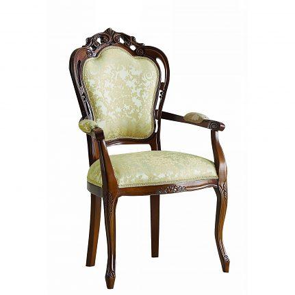 Čalúnená stolička s opierkami 109-C