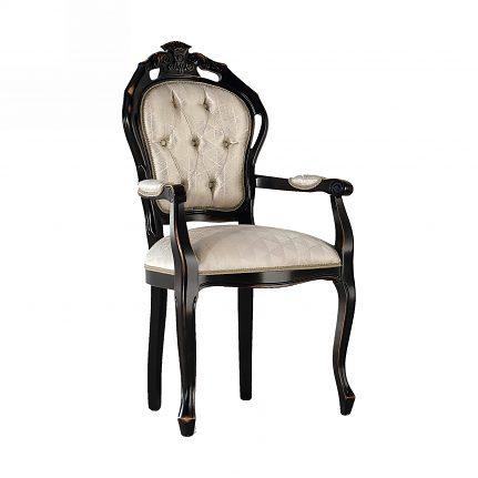 Čalúnená stolička s opierkami 104-C
