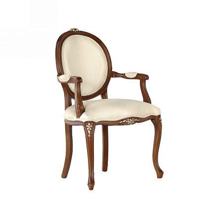 Čalúnená stolička s opierkami 107-C