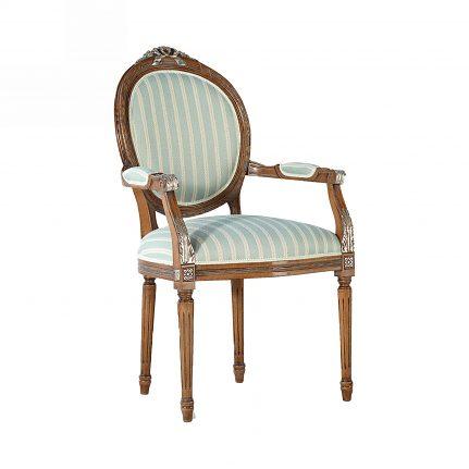 Čalúnená stolička s opierkami 121-C