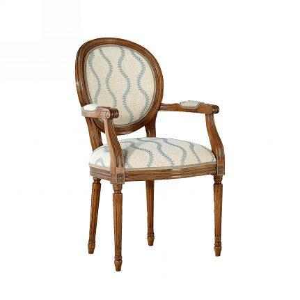 Čalúnená stolička s opierkami 119-C