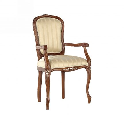 Čalúnená stolička s opierkami 106-C
