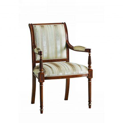Čalúnená stolička s opierkami 124-C