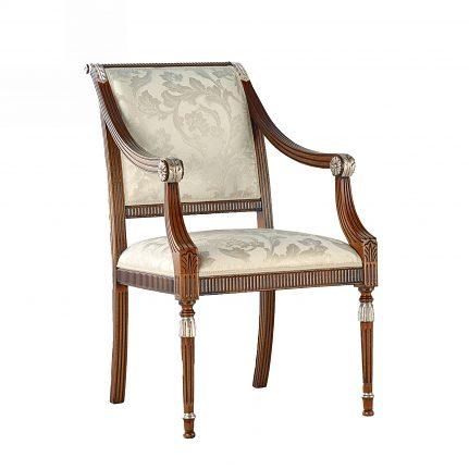 Čalúnená stolička s opierkami 123-C