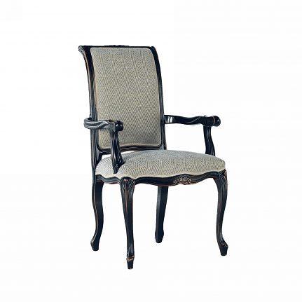 Čalúnená stolička s opierkami 112-C