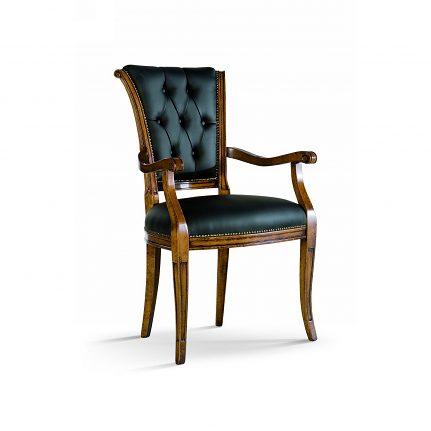 Čalúnená stolička s opierkami 1011-C