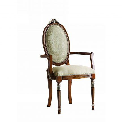 Čalúnená stolička s opierkami 174-C