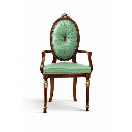 Čalúnená stolička s opierkami 1021-C