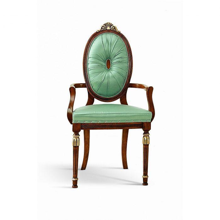 5d8b037ce42f Čalúnená stolička s opierkami 1021-C