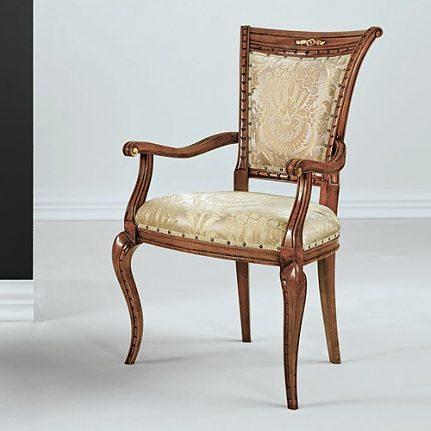 Čalúnená stolička s opierkami 1022-C