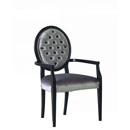 Čalúnená stolička s opierkami 1043-C