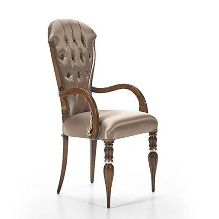 Čalúnená stolička s opierkami AA0418A
