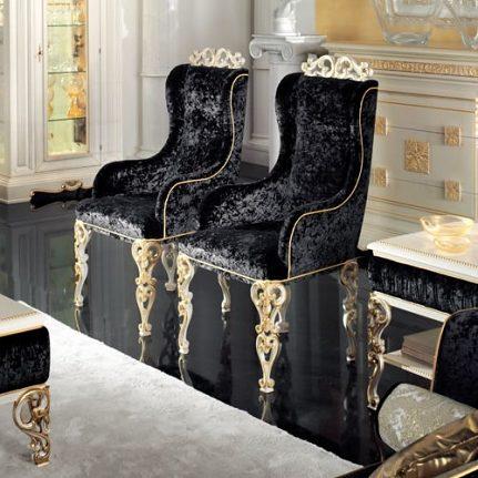 Čalúnená stolička s opierkami BK4046/A