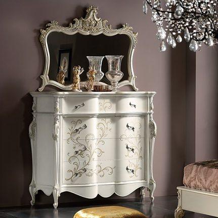 Luxusná biela komoda so šperkovnicou LU0223L