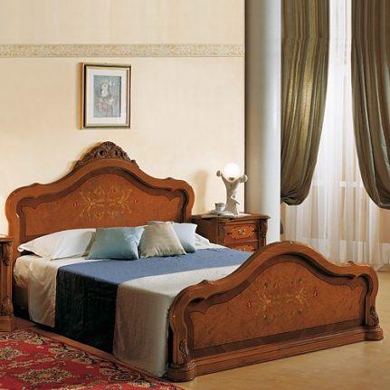 Manželská posteľ s intarziou Br1100