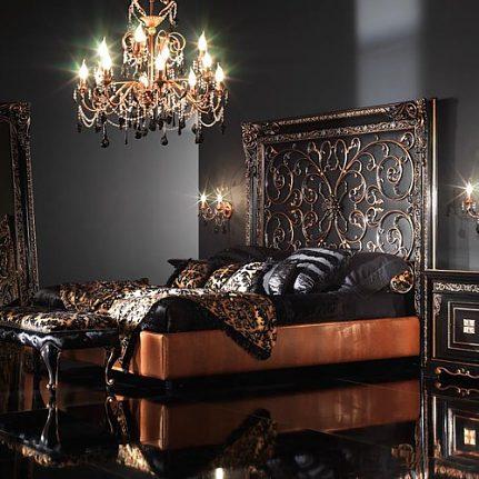 Manželská posteľ BK4020AB čierna
