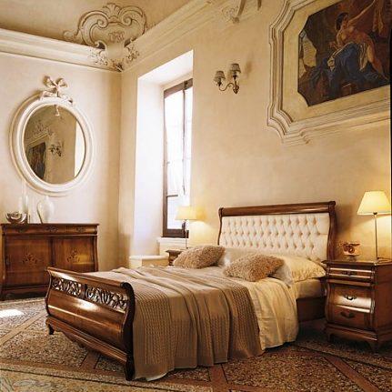 Manželská posteľ s čalúnením Md439