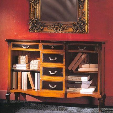 Nízka knižnica so zásuvkami Delfi DFH843L