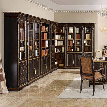 Knižnicová zostava Alabastrino de Luxe 2