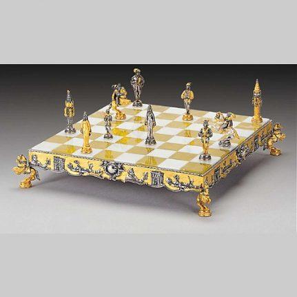 Komplet šachovnica so šachovými figúrkami K807CS