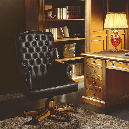 Kožené kancelárske kreslo na koliečkach Si2240