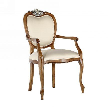 Čalúnená stolička s opierkami 1067-C