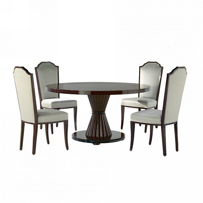 f562fb9a17a2 Okrúhly jedálenský stôl Cristel na stredovej nohe.